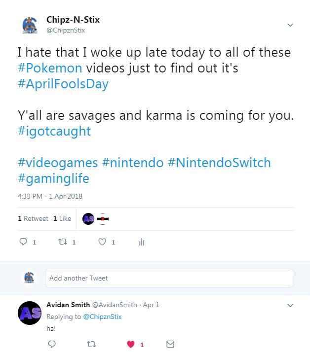 april fools tweet